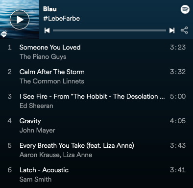 Blaue Playlist