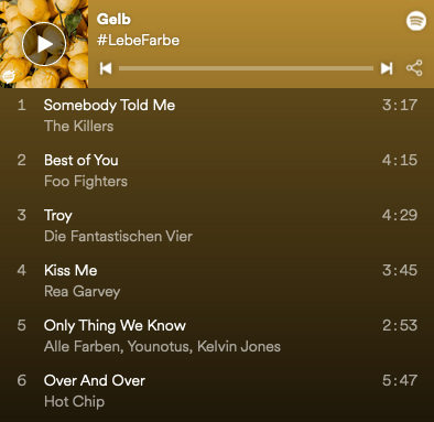 Gelbe Playlist