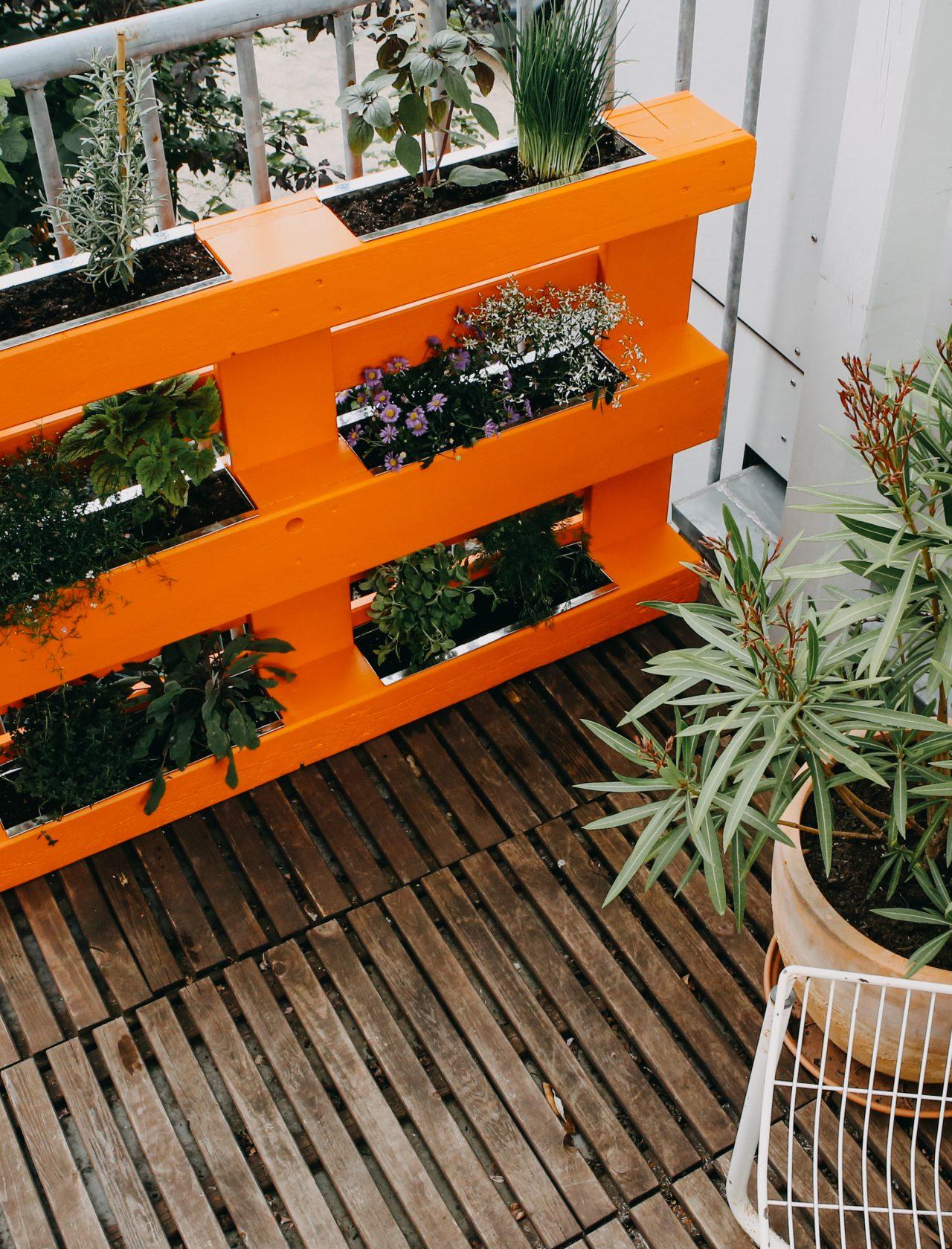 Kräutergarten aus Europalette